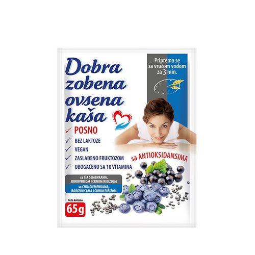 DOBRA OVSENA-ZOBENA KAŠA ČIA,BOROVNICA I RIBIZLA65g
